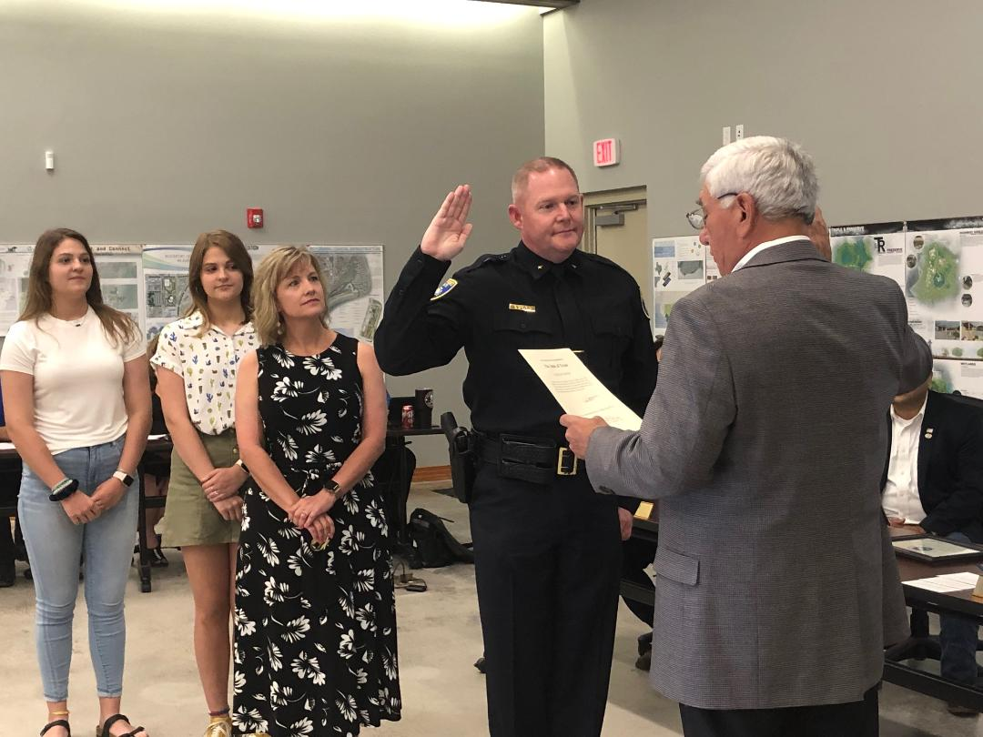 Induction of Police Chief Stevens