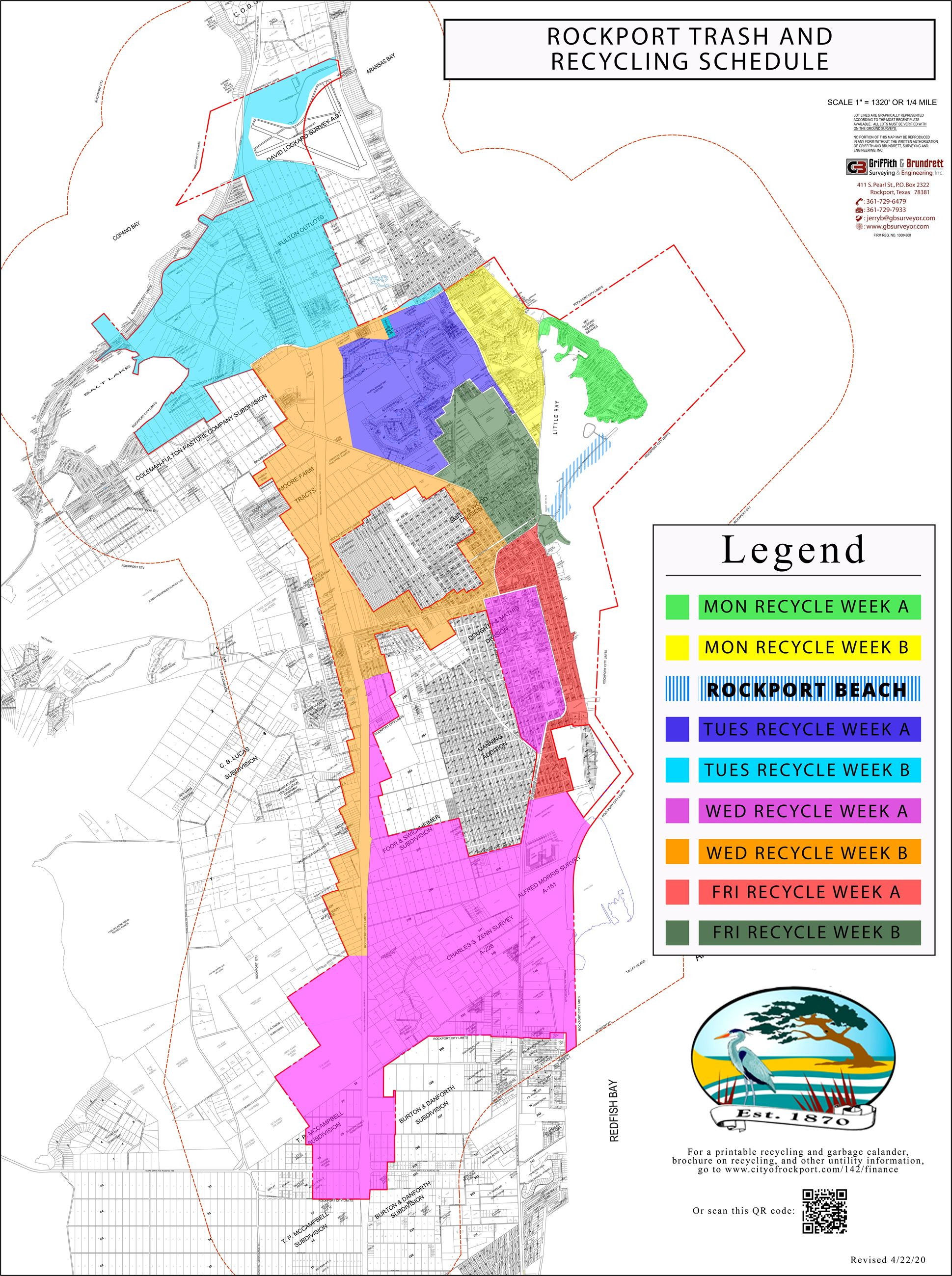 Rockport trash and recycling Map
