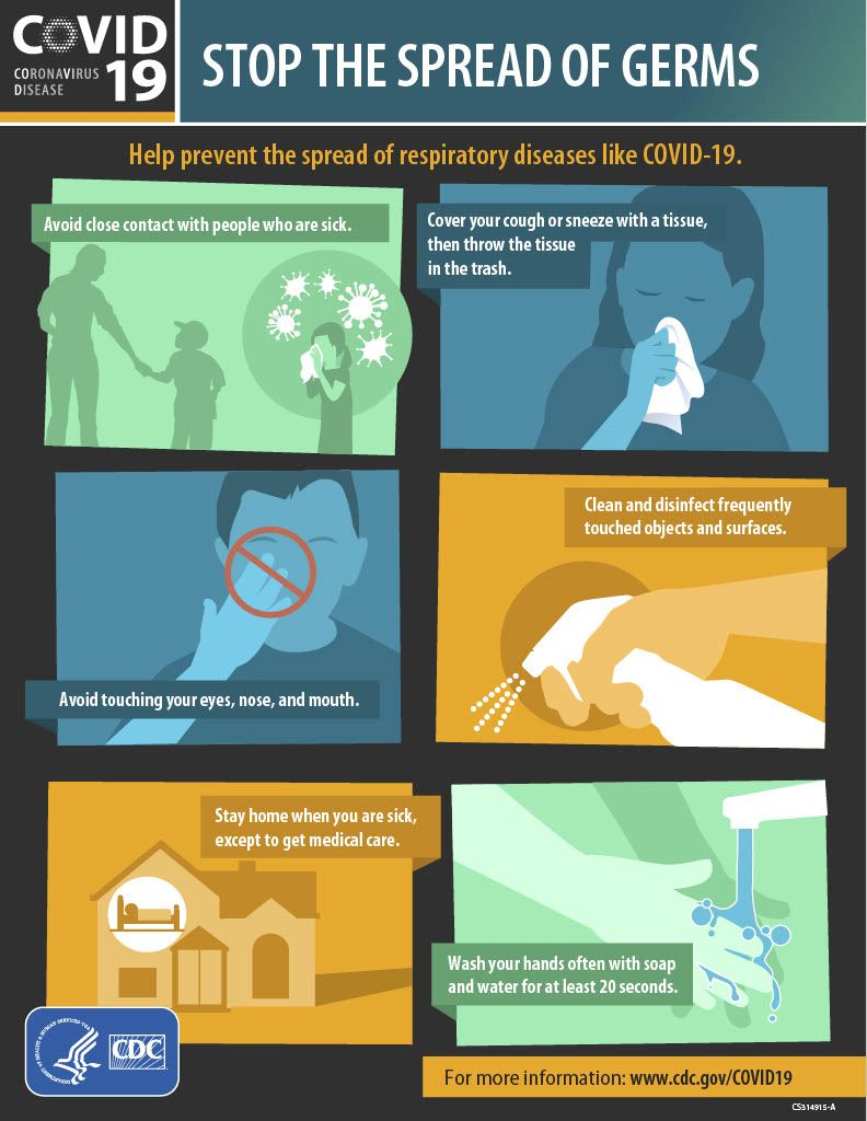 stop-the-spread-of-germs poster